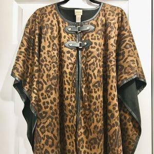 Women's Chico's leopard cape